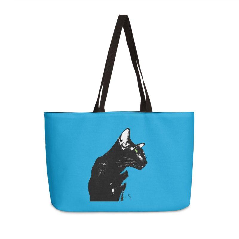 Mr. C. Black - Blue  Accessories Weekender Bag Bag by pikeart's Artist Shop