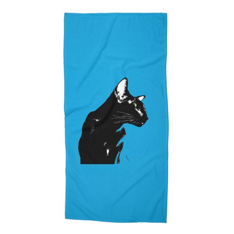 Mr. C. Black - Blue  Accessories Beach Towel by pikeart's Artist Shop