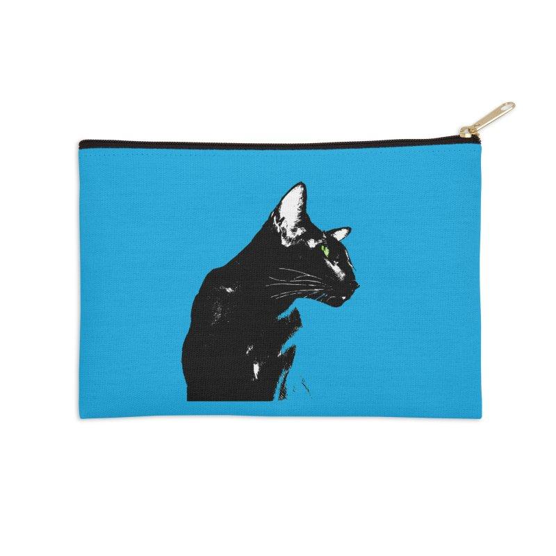 Mr. C. Black - Blue  Accessories Zip Pouch by pikeart's Artist Shop