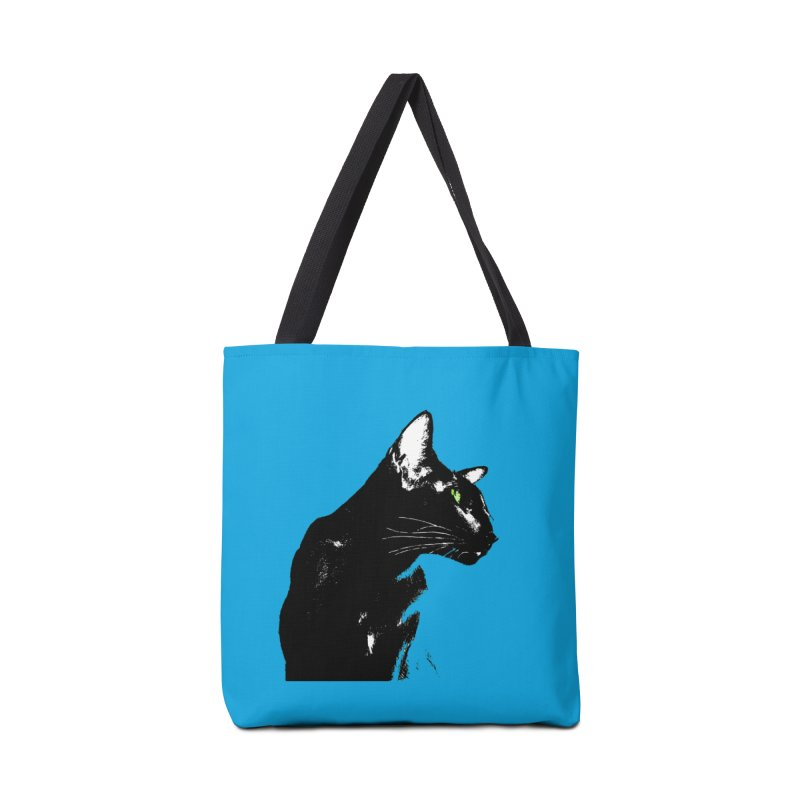 Mr. C. Black - Blue  Accessories Tote Bag Bag by pikeart's Artist Shop