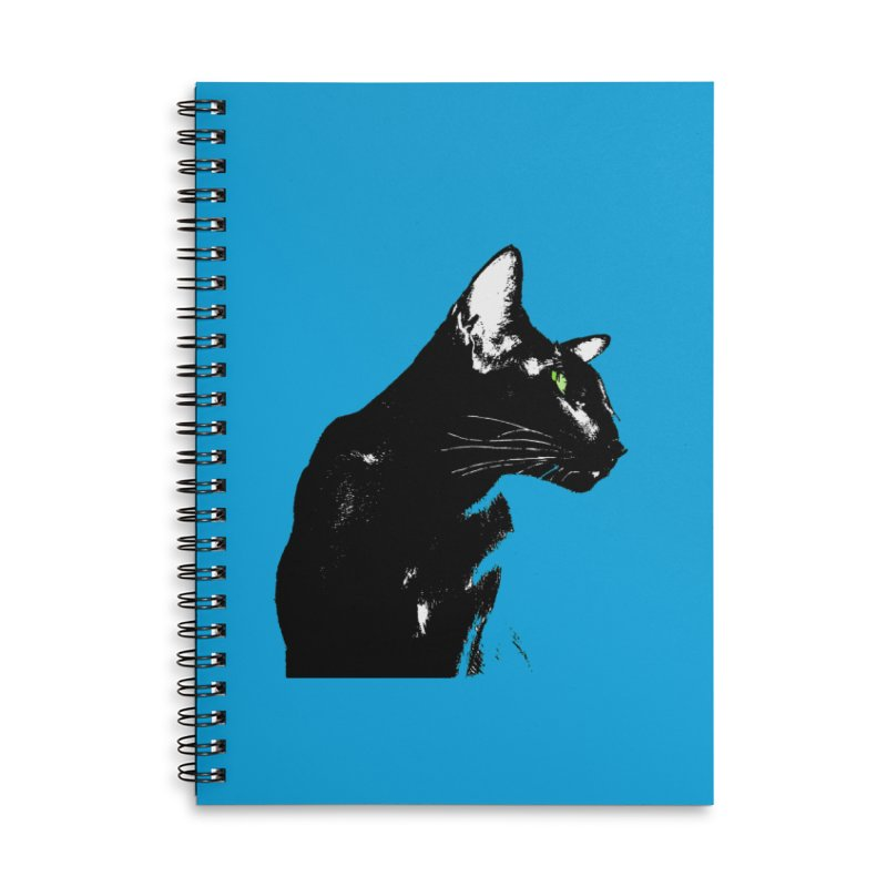 Mr. C. Black - Blue  Accessories Lined Spiral Notebook by pikeart's Artist Shop
