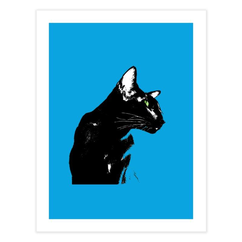 Mr. C. Black - Blue  Home Fine Art Print by pikeart's Artist Shop