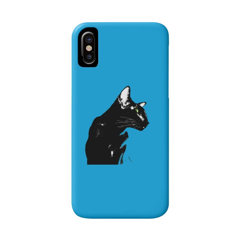 Mr. C. Black - Blue  Accessories Phone Case by pikeart's Artist Shop