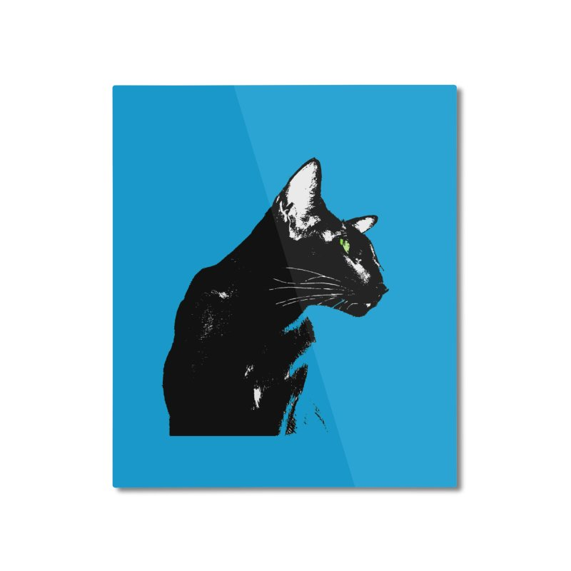 Mr. C. Black - Blue  Home Mounted Aluminum Print by pikeart's Artist Shop
