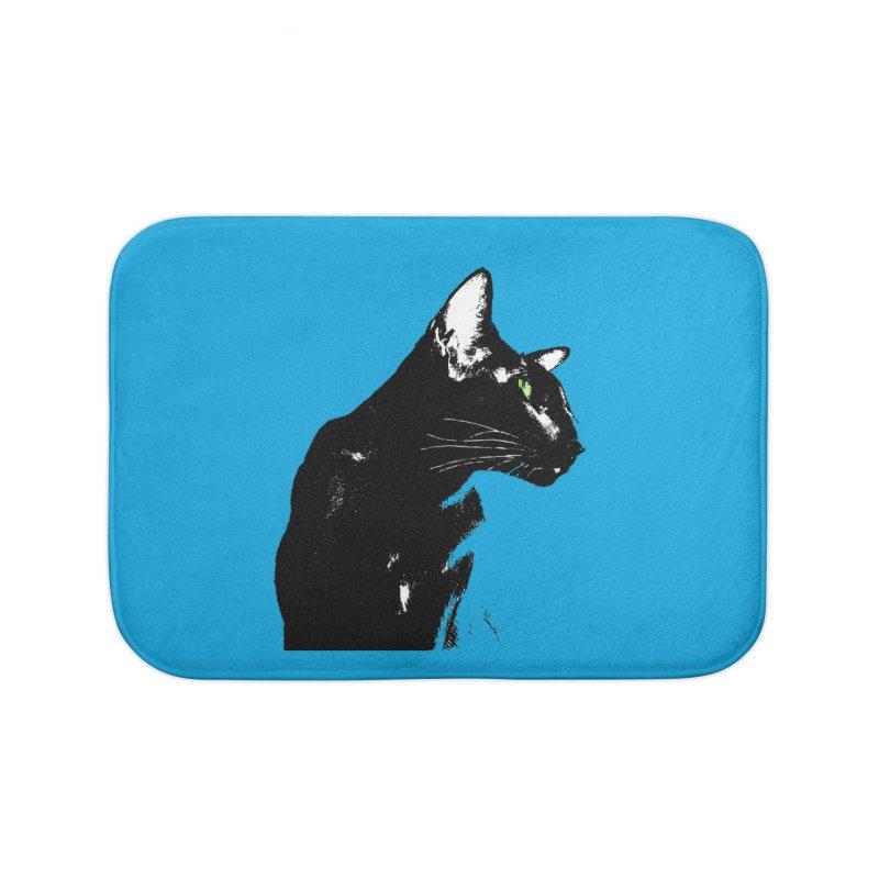 Mr. C. Black - Blue  Home Bath Mat by pikeart's Artist Shop