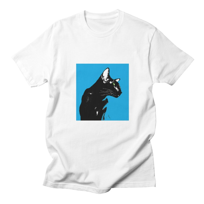 Mr. C. Black - Blue  Men's T-Shirt by pikeart's Artist Shop