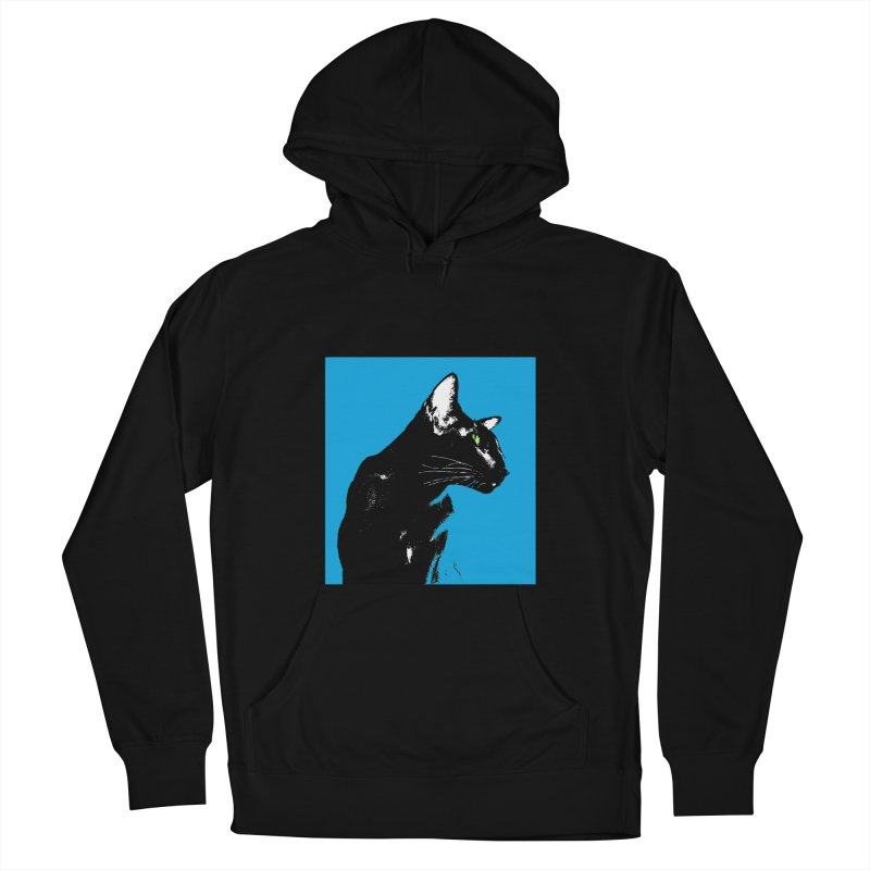 Mr. C. Black - Blue  Women's French Terry Pullover Hoody by pikeart's Artist Shop