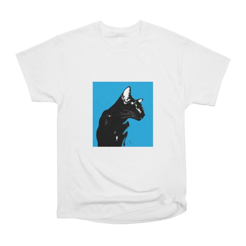 Mr. C. Black - Blue  Women's Heavyweight Unisex T-Shirt by pikeart's Artist Shop