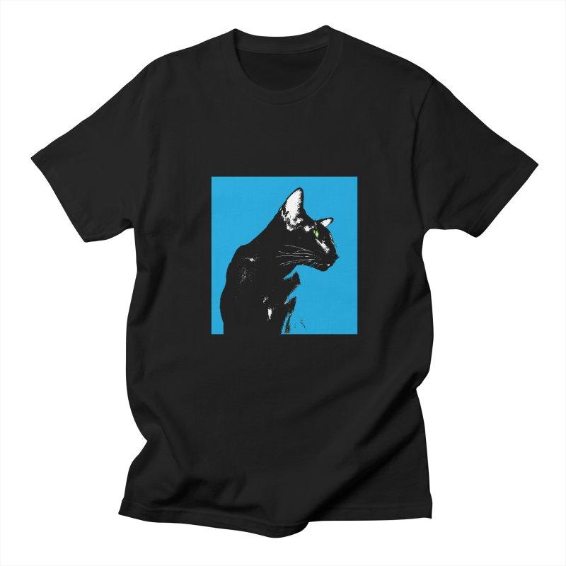 Mr. C. Black - Blue  Women's Regular Unisex T-Shirt by pikeart's Artist Shop