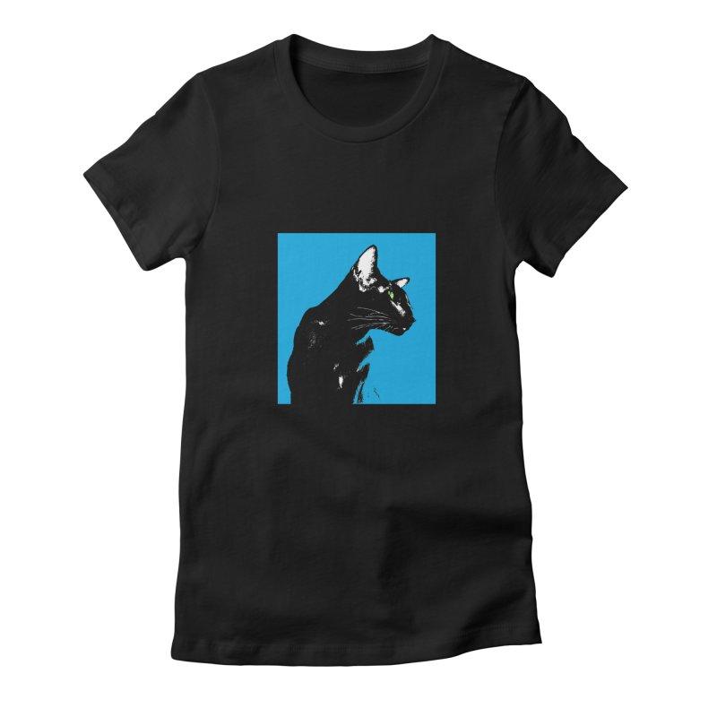 Mr. C. Black - Blue  Women's T-Shirt by pikeart's Artist Shop