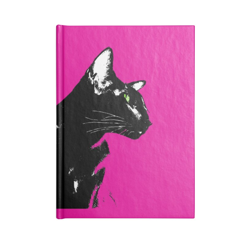 Mr. C. Black - Pink Accessories Lined Journal Notebook by pikeart's Artist Shop