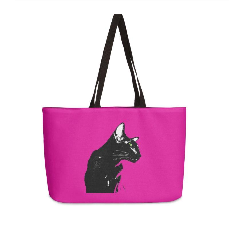 Mr. C. Black - Pink Accessories Weekender Bag Bag by pikeart's Artist Shop