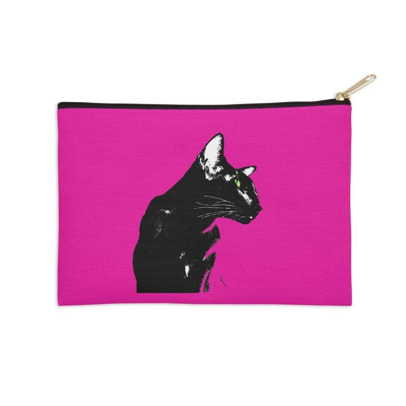 Mr. C. Black - Pink Accessories Zip Pouch by pikeart's Artist Shop
