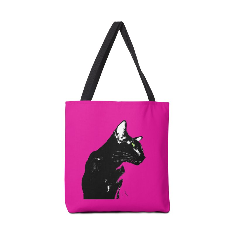 Mr. C. Black - Pink Accessories Bag by pikeart's Artist Shop