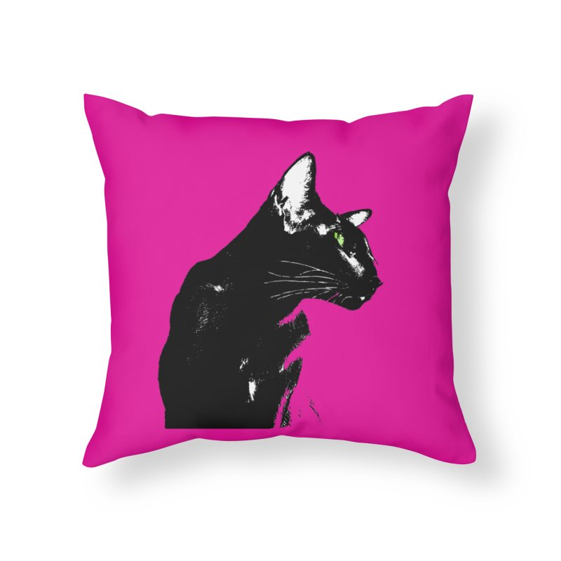 Mr. C. Black - Pink Home Throw Pillow by pikeart's Artist Shop