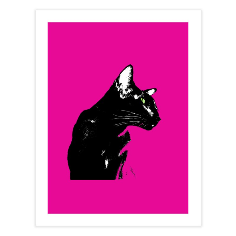 Mr. C. Black - Pink Home Fine Art Print by pikeart's Artist Shop