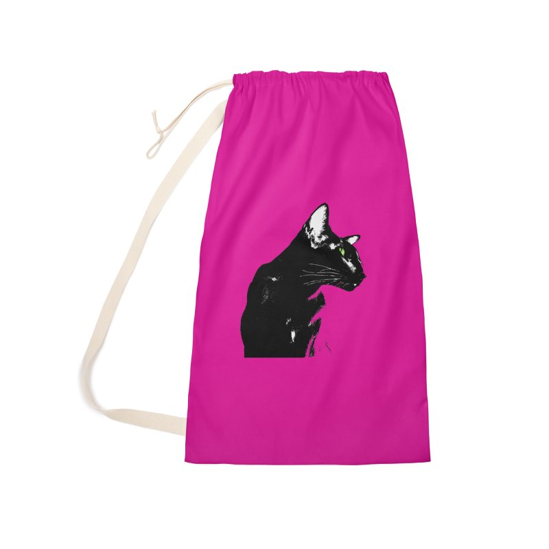 Mr. C. Black - Pink Accessories Laundry Bag Bag by pikeart's Artist Shop