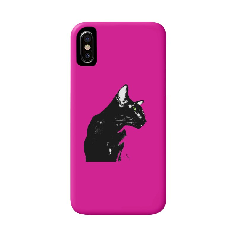 Mr. C. Black - Pink Accessories Phone Case by pikeart's Artist Shop