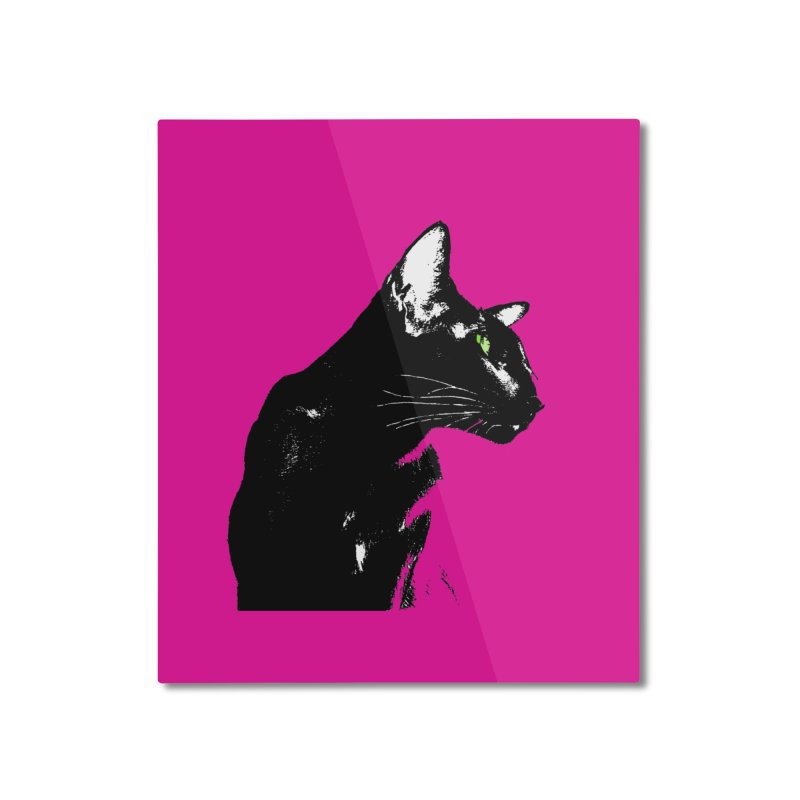 Mr. C. Black - Pink Home Mounted Aluminum Print by pikeart's Artist Shop