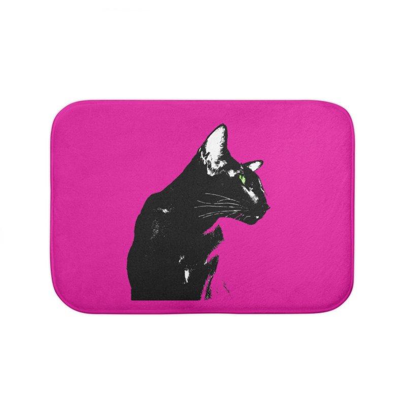 Mr. C. Black - Pink Home Bath Mat by pikeart's Artist Shop