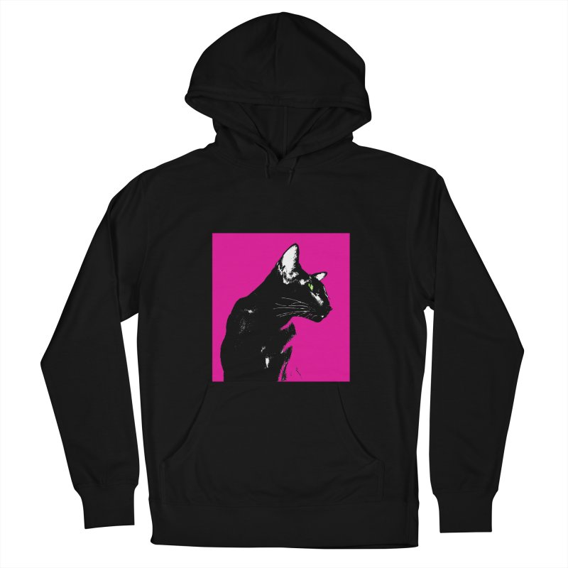 Mr. C. Black - Pink Women's Pullover Hoody by pikeart's Artist Shop