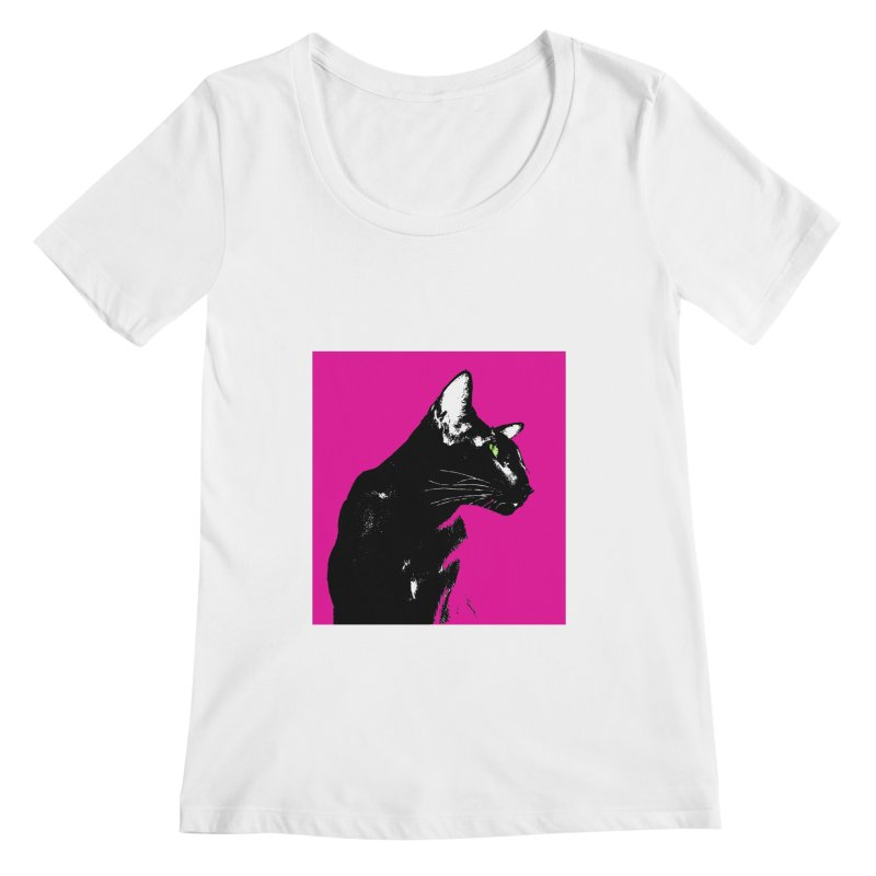 Mr. C. Black - Pink Women's Regular Scoop Neck by pikeart's Artist Shop