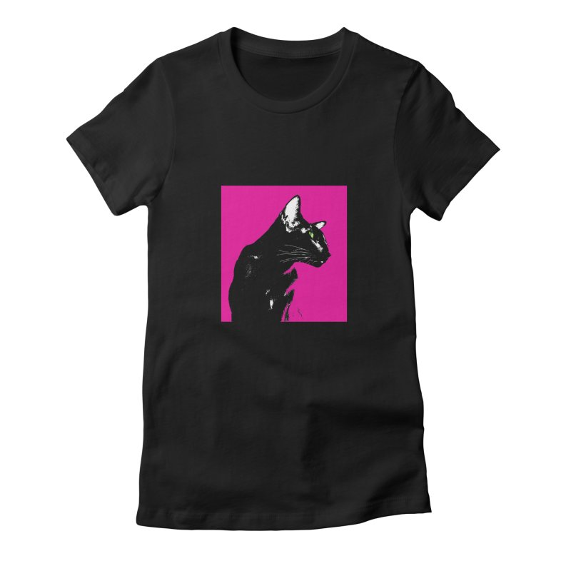 Mr. C. Black - Pink in Women's Fitted T-Shirt Black by pikeart's Artist Shop