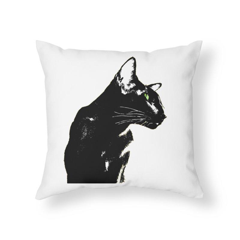 Mr. C. Black  Home Throw Pillow by pikeart's Artist Shop