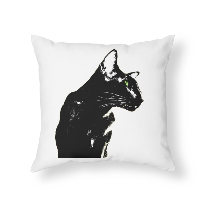 Mr. C. Black  Home Throw Pillow by pikeart's Artist Shop