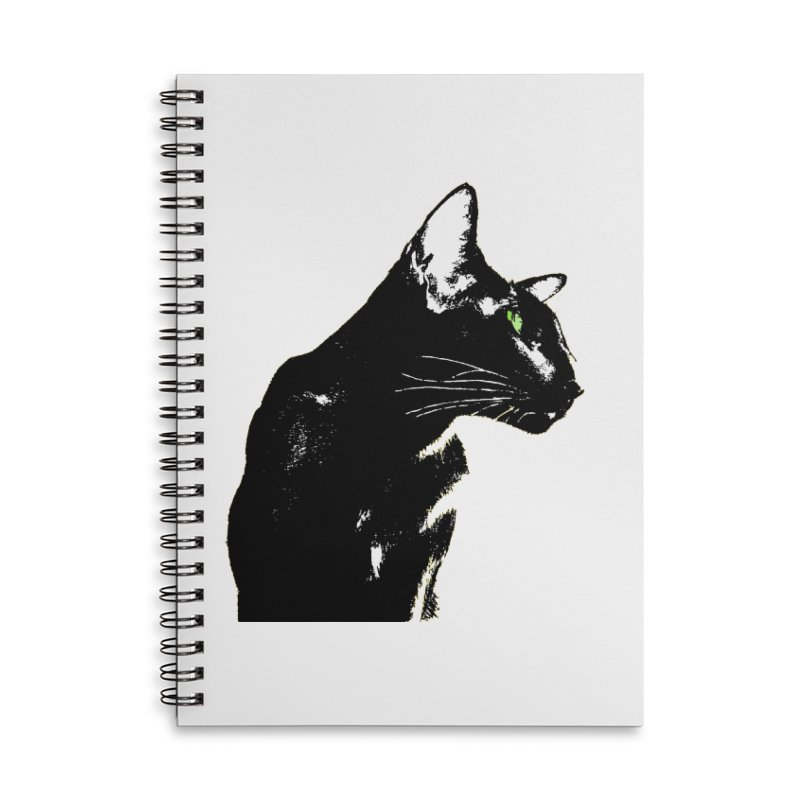 Mr. C. Black  Accessories Lined Spiral Notebook by pikeart's Artist Shop
