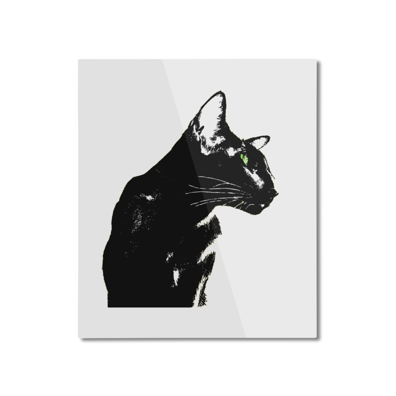 Mr. C. Black  Home Mounted Aluminum Print by pikeart's Artist Shop