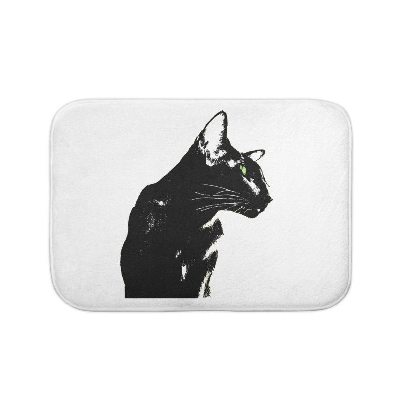 Mr. C. Black  Home Bath Mat by pikeart's Artist Shop