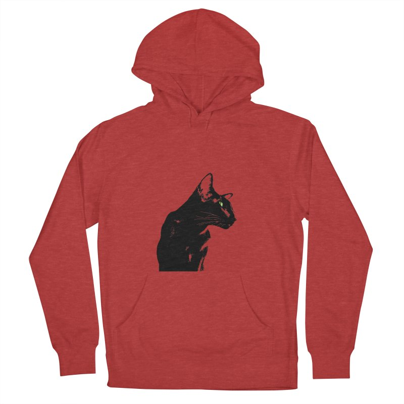 Mr. C. Black  Women's French Terry Pullover Hoody by pikeart's Artist Shop