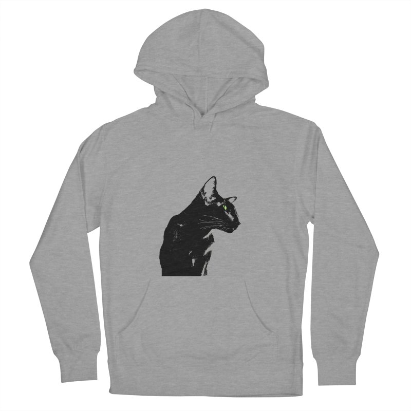Mr. C. Black  Men's French Terry Pullover Hoody by pikeart's Artist Shop