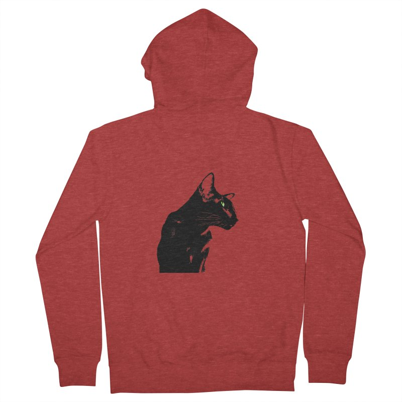 Mr. C. Black  Women's French Terry Zip-Up Hoody by pikeart's Artist Shop