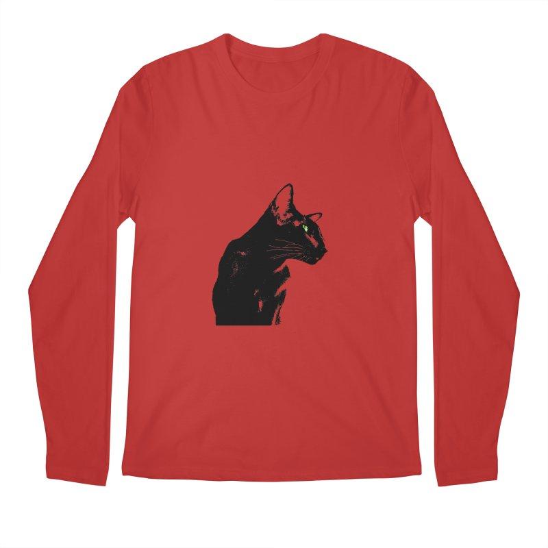 Mr. C. Black  Men's Regular Longsleeve T-Shirt by pikeart's Artist Shop