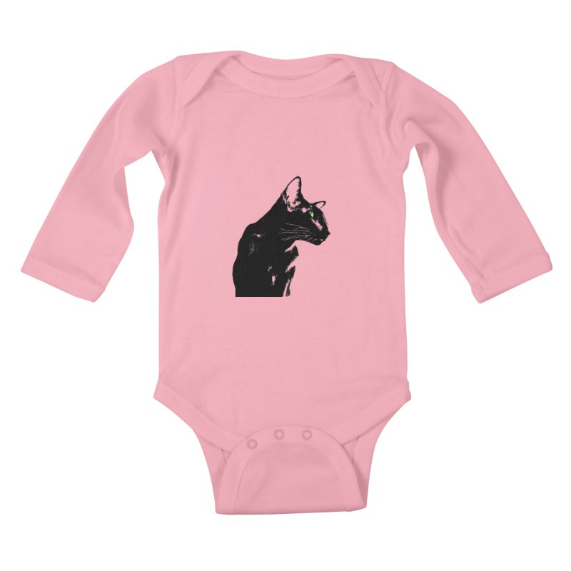 Mr. C. Black  Kids Baby Longsleeve Bodysuit by pikeart's Artist Shop