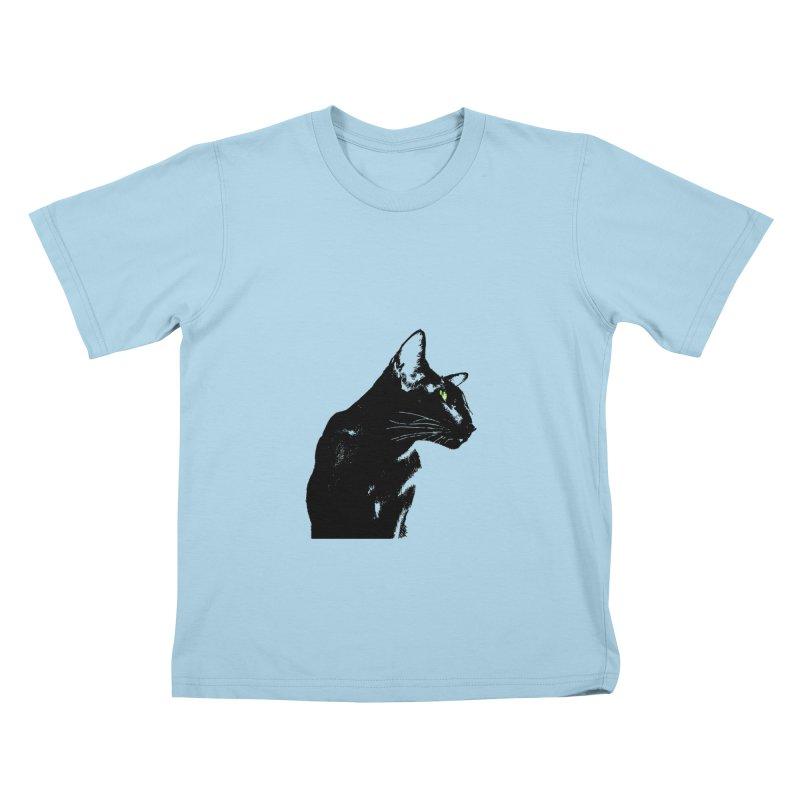 Mr. C. Black  Kids T-Shirt by pikeart's Artist Shop