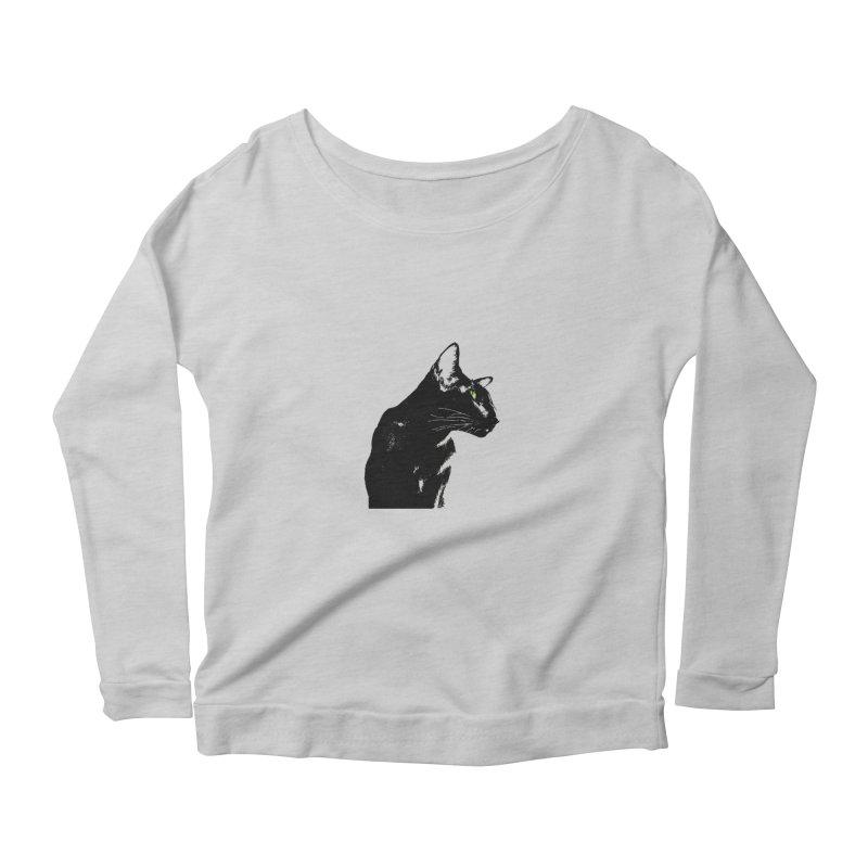 Mr. C. Black  Women's Longsleeve T-Shirt by pikeart's Artist Shop