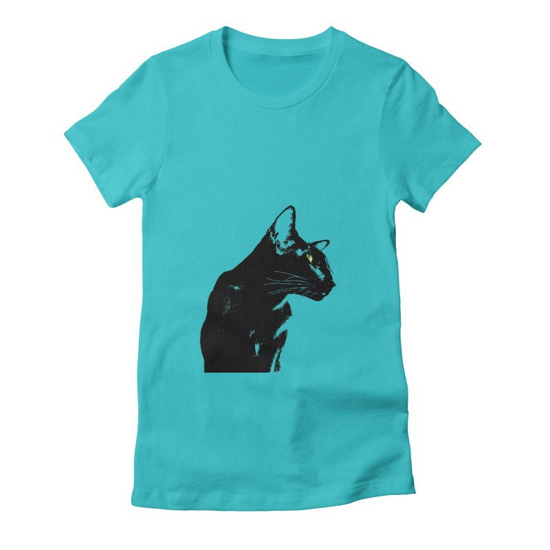 Mr. C. Black  Women's Fitted T-Shirt by pikeart's Artist Shop