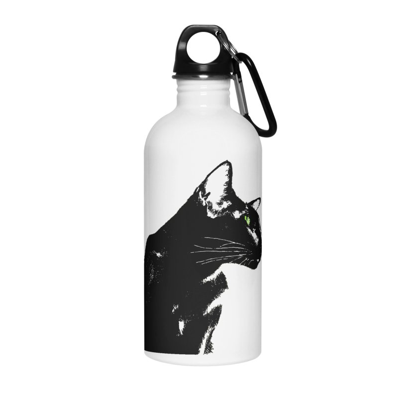 Mr. C. Black  Accessories Water Bottle by pikeart's Artist Shop