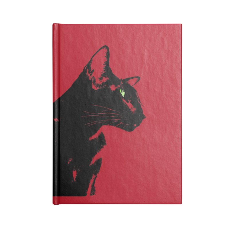 Mr. C. Black - Cherry Accessories Lined Journal Notebook by pikeart's Artist Shop
