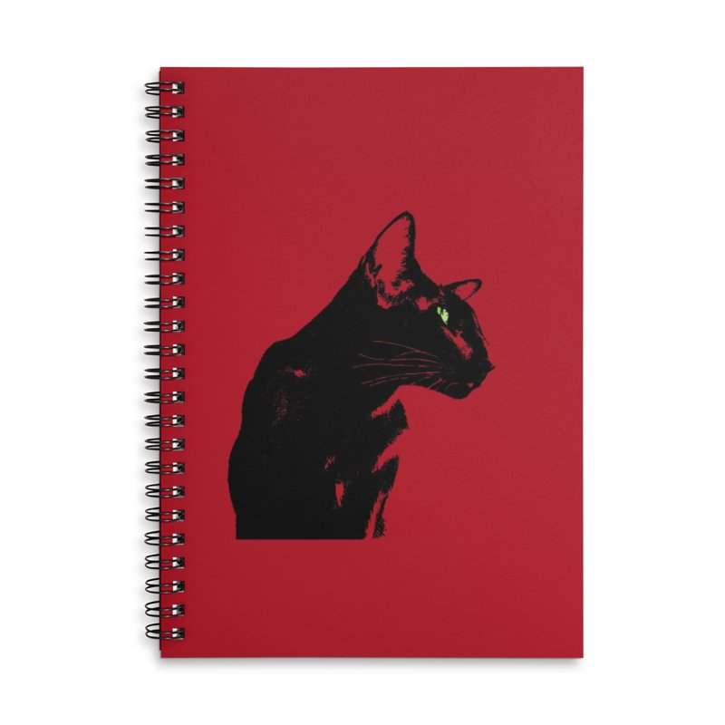 Mr. C. Black - Cherry Accessories Lined Spiral Notebook by pikeart's Artist Shop