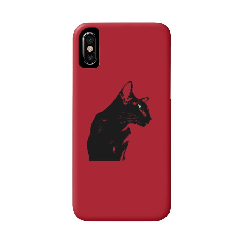 Mr. C. Black - Cherry Accessories Phone Case by pikeart's Artist Shop