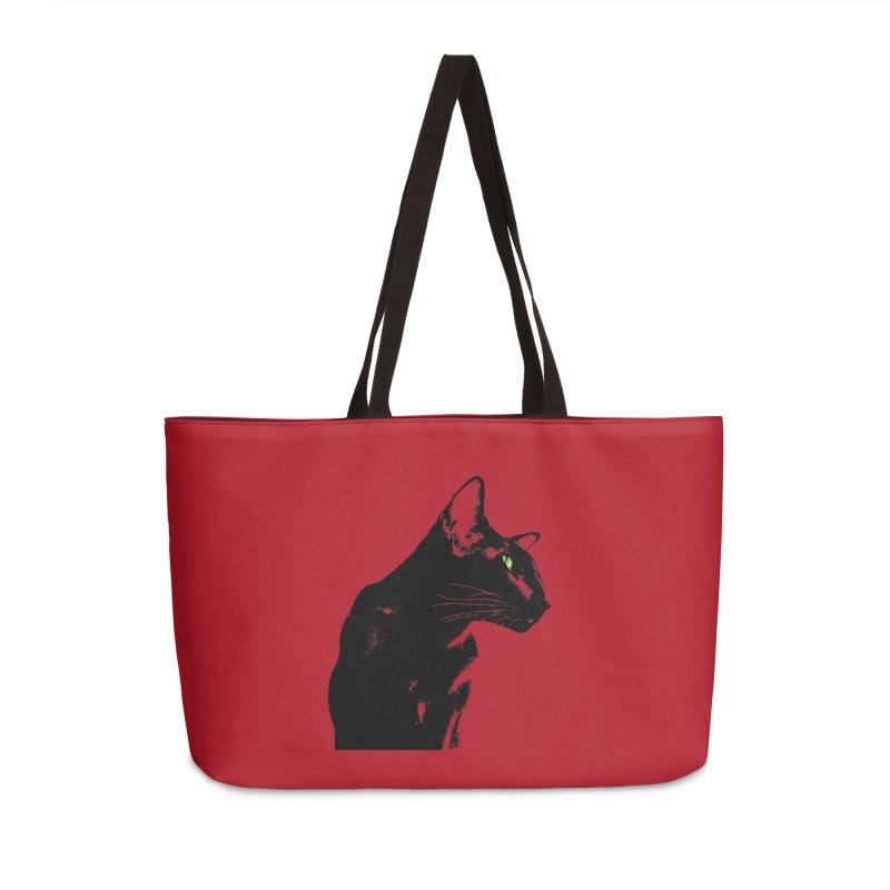 Mr. C. Black - Cherry Accessories Weekender Bag Bag by pikeart's Artist Shop