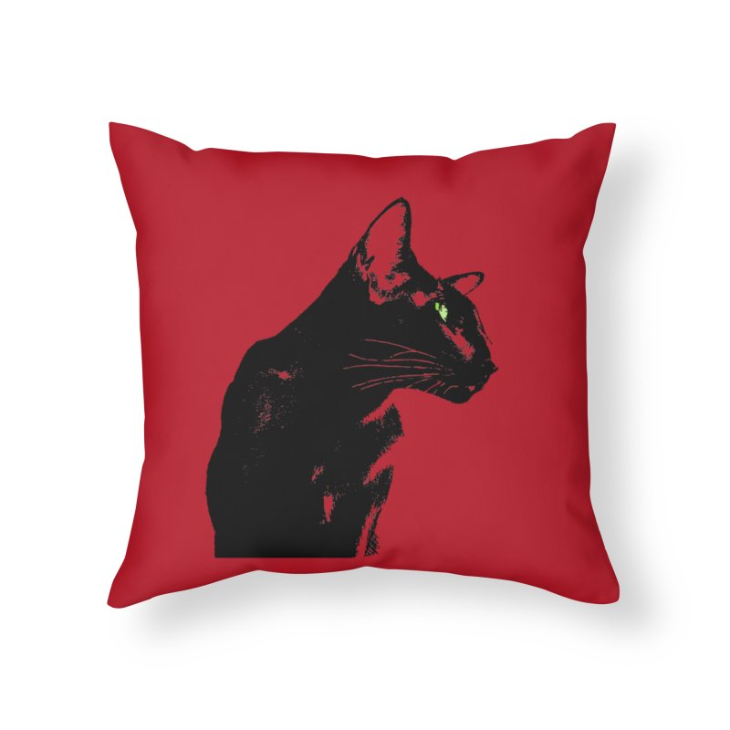 Mr. C. Black - Cherry Home Throw Pillow by pikeart's Artist Shop