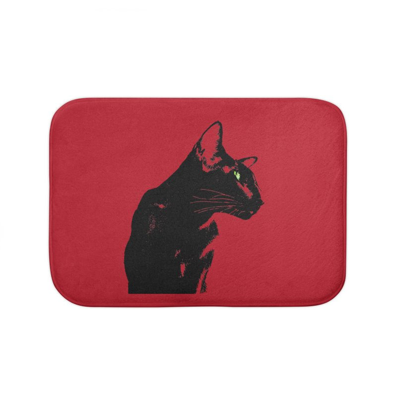 Mr. C. Black - Cherry Home Bath Mat by pikeart's Artist Shop