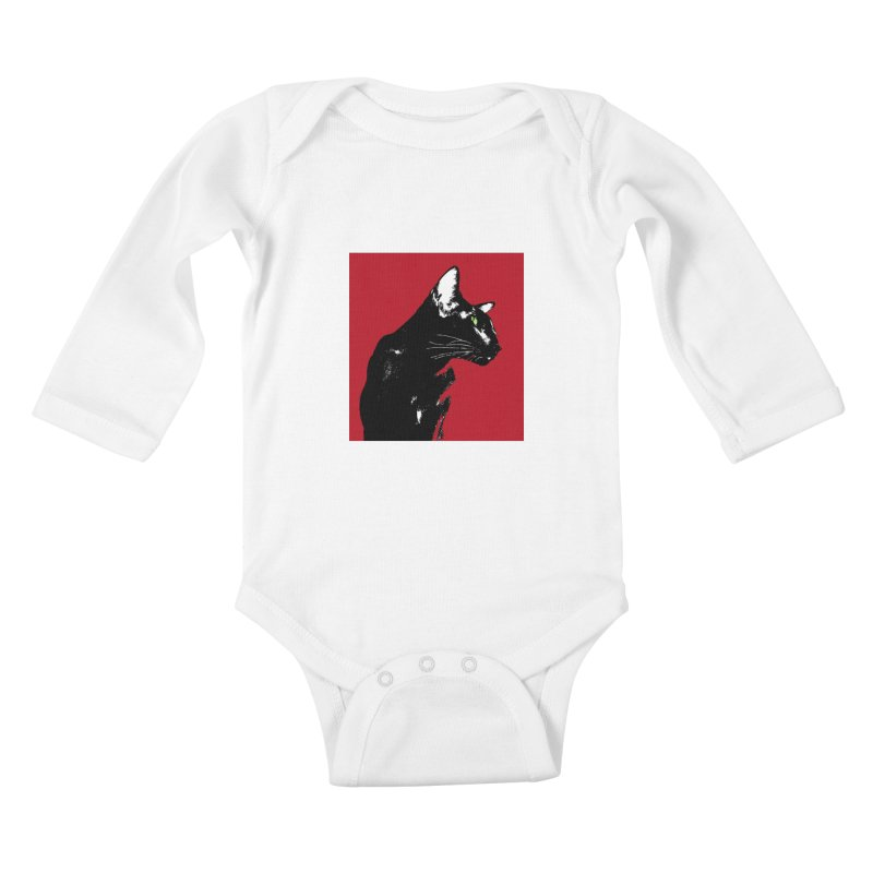 Mr. C. Black - Cherry Kids Baby Longsleeve Bodysuit by pikeart's Artist Shop