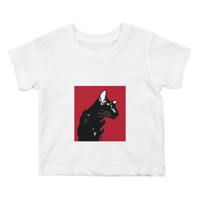 Mr. C. Black - Cherry Kids Baby T-Shirt by pikeart's Artist Shop