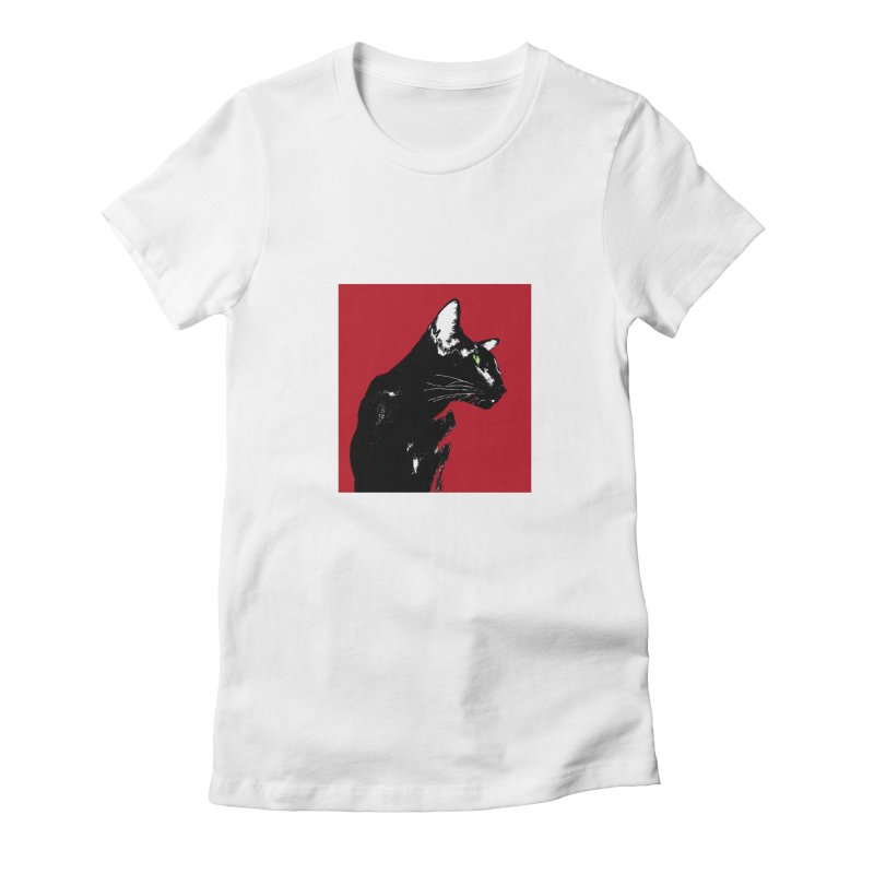 Mr. C. Black - Cherry Women's T-Shirt by pikeart's Artist Shop